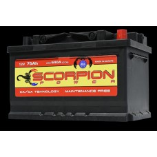 AKUMULATOR SCORPION POWER 12V75AH D+ 04781