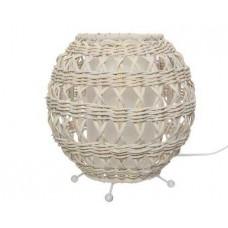 LAMPA STONA RATAN BAMBO WHITE 21,5X20,5CM  896846